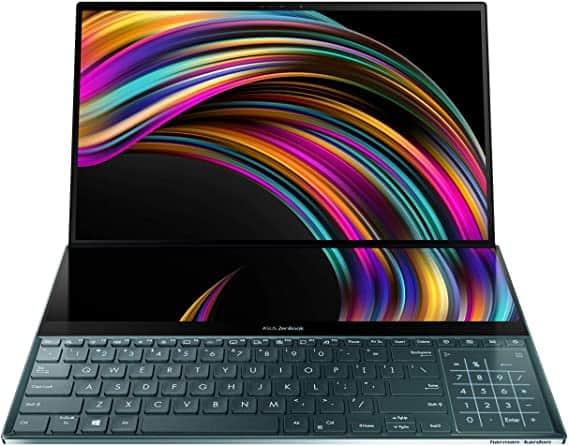 ASUS ZenBook Pro Duo – מחשב נייד חזק ליוצרים עם מסך מגע 4K כפול ב₪7,784