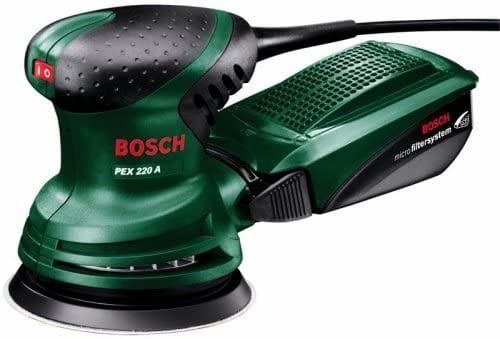 מלטשת אקצנטרית חשמלית Bosch PEX 220 A רק ב₪207 כולל משלוח!
