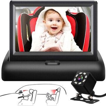 לנסוע בראש שקט – רואים את הילדים גם מאחור! מוניטור מצלמה ומסך לתינוק ולילד לרכב רק ב₪106!