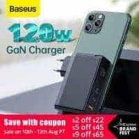 מטען חחחחחזק! Baseus 120W GaN USB Charger עם תמיכה בהטענת מחשבים (אפילו 2!), טאבלטים ועוד בשלל טכנולוגיות הטענה מהירה – QC4.0 QC3.0 PD3.0 רק ב$39.99!