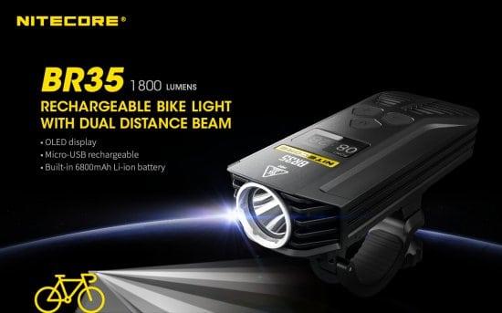 בלעדי! מפנסי האופניים הטובים בעולם! NITECORE BR35 רק ב₪429 ומשלוח חינם + מתנה!