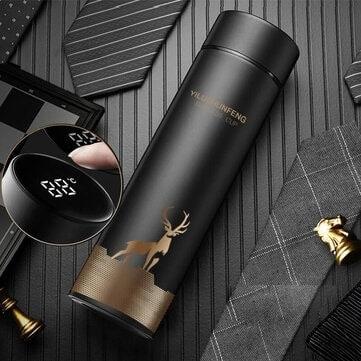 KCASA 500ml – תרמוס מעוצב עם מד טמפרטורה מובנה ב$8.89