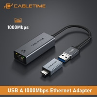 מתאם רשת חוטית – CABLETIME USB Ethernet Adapter – חיבור USB/ USB-C ב$9.08 – $13.49