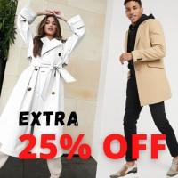 כפל הנחות! אקסטרה 25% הנחה על מעילים וג'קטים בSALE בASOS!
