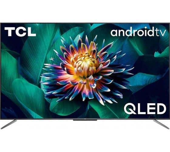 """מבצע סופ""""ש עם כפל הנחות! טלוויזיה חכמה TCL 50C715 50"""" 4K UHD QLED Fralemess עם אנדרואיד TV רק ב₪1,903!"""