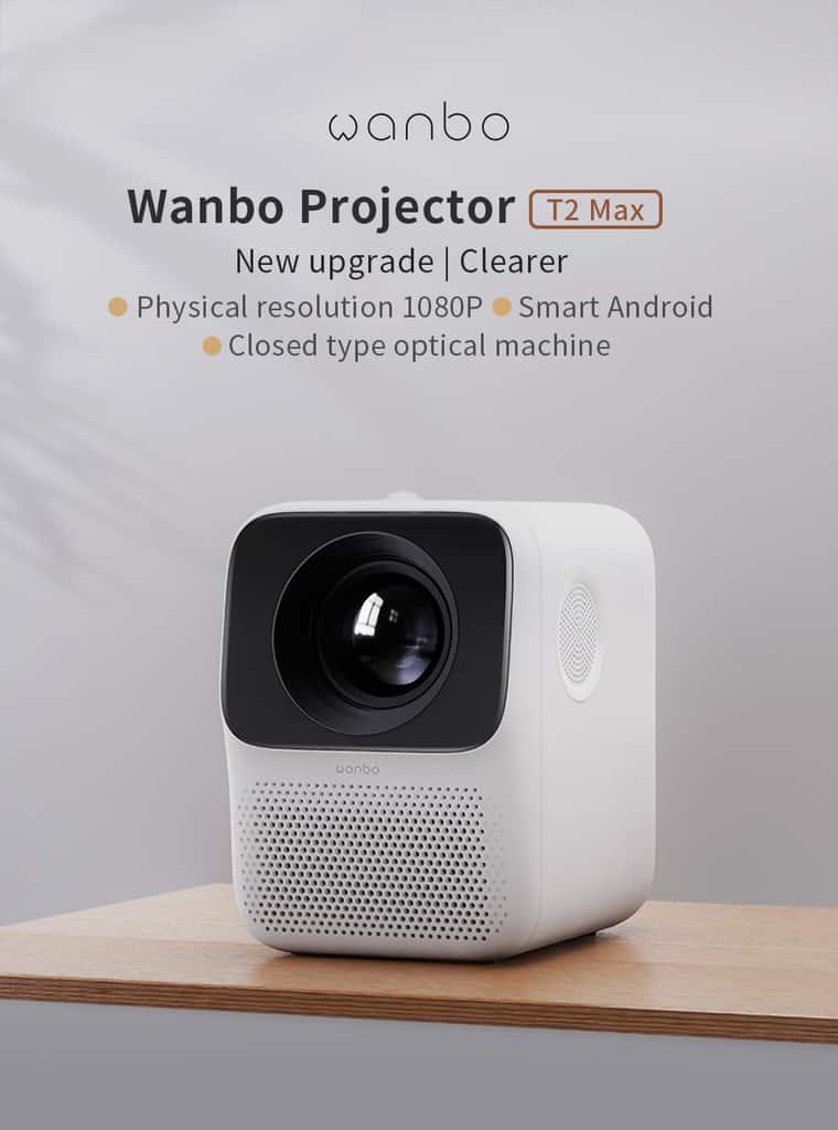XIAOMI Wanbo T2MAX – המקרן הקומפקטי של שיאומי – 1080P עם 5000 לומנס בגרסא הגלובלית! (כולל אנדרואיד מובנה!) רק בכ₪574 כולל משלוח וביטוח מס!